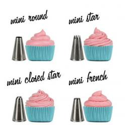 MINI Cupcake Decorating Tip Set from Layer Cake Shop!   Includes, Round, Star, Closed Star and French!   http://www.layercakeshop.com/products/mini-cupcake-decorating-tip-set: Cupcake Decorating Tips, Decorating Mini Cupcakes, Cakes Cupcakes, Cup Cake, Mi