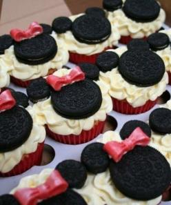 minnie mouse!: Mice, Mickey Mouse, Minniemouse, Food, Minnie Mouse, Mouse Cupcakes, Cup Cake, Party Ideas, Birthday Party