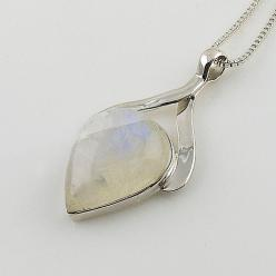 Moonstone Pear Sterling Silver Pendant: Pear Sterling, Sterling Silver Pendants, Moonstone Pear