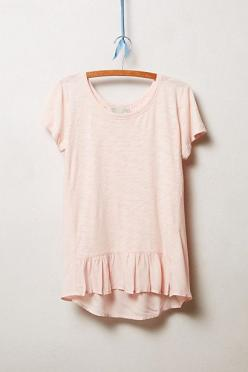 Narda Tee - anthropologie.com  I love color. I'm letting my red hair emerge.... I'm off ashy shades and back to reds, pinks, Browns, navy, orange....: Narda Tee, Basic Tee, #Anthropologie Clothing, Light Pink Dress Casual, Anthropologie Tops, Casu