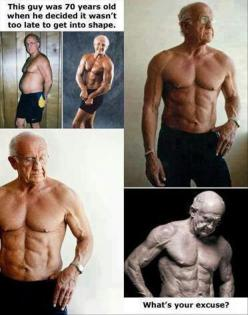 No Excuses!: Body, Weight Loss, Too Late, 70 Years, Fitness Inspiration, Healthy, No Excuses, Fitness Motivation, Workout