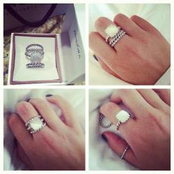 Pandora rings | @savannahlynn23 There's your m.o.p. one!  how cute with the others...: Pandora Stacking Rings, Pandora Ring Stack, Pandora Jewelry, Pandora Charms, Pandora Bracelets, Pandora Rings Stacked, Bracelets Only 43 92, Pandora Stacked Rings,