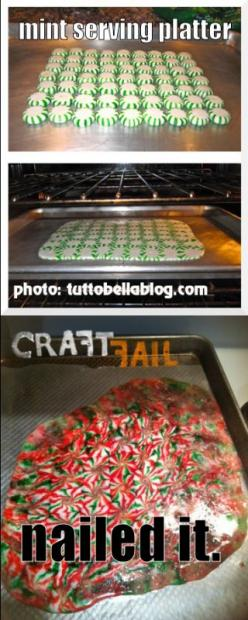 Peppermint Serving Tray. Nailed It.: Peppermint Serving, Stuff, Nail It Fail, Diy Fails Nailed It, Pinterest Fail, Craftfail