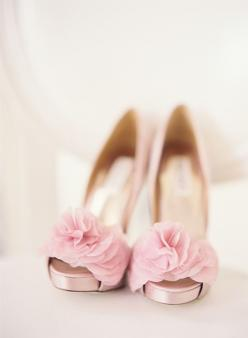 pink ruffled shoes // photo by SWOON by Katie OMG, Cat!!!!!! I love the shoes you chose for the wedding but how gorgeous and hot are these stunners?!!!: Fashion, Wedding Shoes, Wedding Ideas, Pink Weddings, Weddingshoes, Pink Shoes, Ruffled Shoes, Bride,