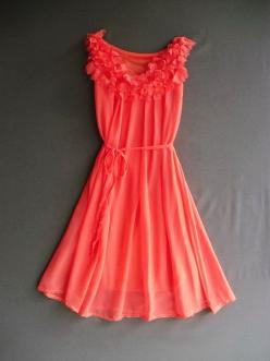 Pretty.: Summer Dresses, Spring Dresses, Style, Coral Dress Love, Cute Dresses, Summer Color