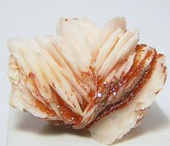 Red and Orange Vanadinite Crystals on White by FenderMinerals,: White Barite, Orange Vanadinite, Gemstones Crystals, Colorful Gemstones, Crystals Mineral Rocks, Vanadinite Crystals, Things Gemstones, Gemstones Minerals Crystals, Crystals Gemstones Mineral