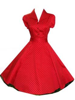 Red Rockabilly 50's Dress. I need to find a dress like this.: 50S Housewife, Polka Dots, 50S Fashion Dress, Style, Dresses, Swing Dress, Red Polka