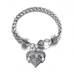Rodeo Mom Pave Heart Charm Bracelet: Mascot Pave, Heart Charm, Charm Bracelets, Girl, Charms, Heart Bracelet, Pave Heart, Products