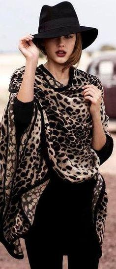 #street style, #animal print, #stylish, #street fashion