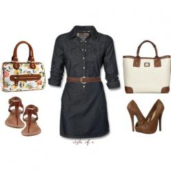 This looks cute and casual.  Way to hot for summer in phoenix. This would be more of a fall/winter outfit for me.: Fashion, Style, Dresses, The Dress, Belted Dress, Spring Outfits