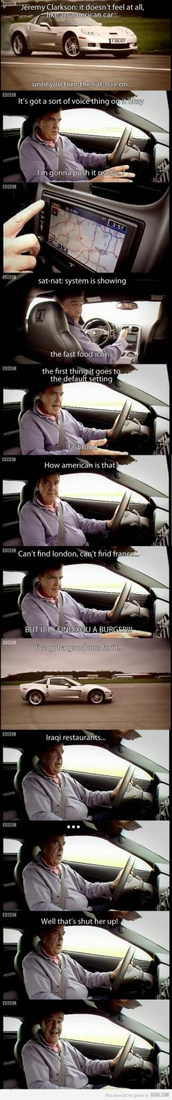 top gear! It's especially funny if you watch he show and can hear his voice as you read it.: Jeremy Clarkson, American Cars, Top Gear, Tops, Funny Stuff, Funnies, Topgear, Gears