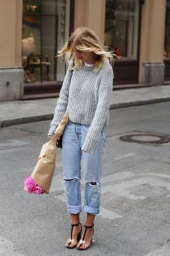 Tuesday Ten: September Style Ideas - Wear all 50 shades of gray #niciasonoki #fashionista: Boyfriend Jeans, Fashion, Street Style, Outfit, Boyfriendjeans, Styles, Boyfriends, Style Ideas