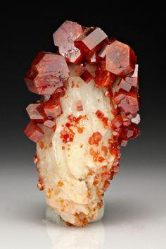 Vanadinite with Barite from Morocco