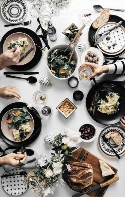 via Urban Outfitters: Overhead Food, Holiday Tabletop Apt 34 6, Dinner Parties, Christmas Table Setting, Dinner Party, Food Photography, Casual Table Setting, Dining Table Setting