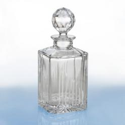 Waterford Crystal Decanter...I have this, Lord knows why, since I'm not serving any aged single malt scotch anytime soon, but it's always nice to have collection pieces.: Bar Cart, Waterford Studio, Crystal Decanter, Studio Square