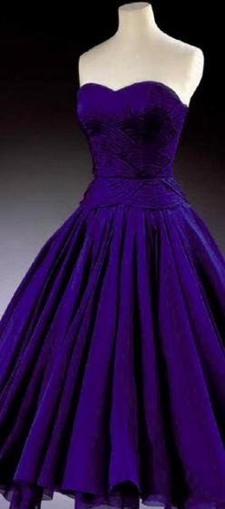 Worn by Princess Margaret in 1951, this Jean Dessès cocktail gown is even more stunning in person than it is in photographs.: Purple, Style, Color, Dresses, Princess Margaret, Dessès Cocktail