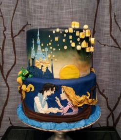 A Birthday cake for a little girl who Loves Tangled!~~Made by  dangirls cakery    ..  You can find her on Facebook :): Girl, Amazing Cakes, Cake Ideas, Rapunzel Cake, Disney Cake, Wedding Cake, Awesome Cake, Tangled Cakes, Birthday Cakes
