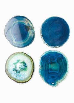 Agate Coasters - Blue by www.SoulMakes.com: Earth S Treasure, House Ideas, Agate Jasper Marble Geode Gem, Decorating Ideas, Agates, Apartment, Www Soulmakes Com, Agate Coasters, Room