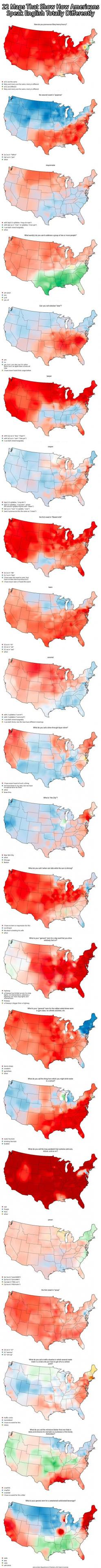 Americans Speak English Totally Differently From Each Other… this is so interesting.: Americans Speak, American Funny, American Accents, American English, Weird American Things, Speak English, English Language Funny, English Totally