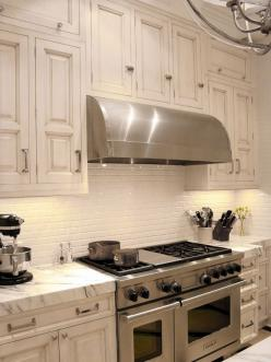Beautiful Backsplashes : Rooms : HGTV  Who knew a stove could be so pretty.: Kitchens, White Kitchen, Cabinet, Kitchen Design, Kitchen Ideas, Subway Tiles