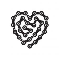 bike love- my primary mode of transportation to and from work Summer 2012: Logo, Idea, Cycling, Chains, Temporary Tattoo, Heart Links, Bicycle