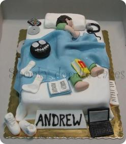 birthday cake for teen boy | Teenage bedroom cake: Doodle Cakes, Bedroom Cake, Cake Ideas, Boy Birthday Cakes, 16Th Birthday Cakes For Boys, 18Th Birthday Cakes For Boys, 13Th Birthday Cakes For Boys, Birthday Cakes Boys Teen