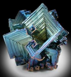 Bismuth (Synthetic) from Man-made: Gems Minerals Fossils Etc, Gemstones Minerals, Crystals Minerals Gemstones, Minerals Crystals, Stones Gems Crystals Minerals, Bismuth Crystals, Bismuth Crystallizes, Precious Gems Stones Crystals, Bismuth Mineral