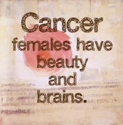 Cancer Zodiac Femals have beauty and brains >>> I really like this quote! HAHA: Zodiac Signs, Quote, Cancerzodiac, Cancer Women, Beauty, Cancer Zodiac, Brain, Zodiac Cancer