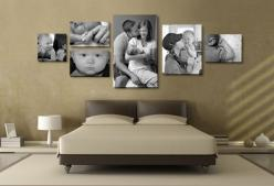 canvas wall layout | photo canvas layout that is 28×76″. This is the actual wall ...: Canvas Picture Layout, Photo Collage, Canvas Picture Collage, Idea, Craft, Canvas Layout, Display, Canvas Wall Layout, Canvas Photo
