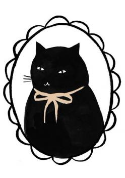 Clare Owen Illustration MOW! - want this tattooed on me: Cat Art, Kitty Cats, Owen Illustration, Cat Illustrations, Black Cats, Fat Cat, Art Cat, Baby Cat