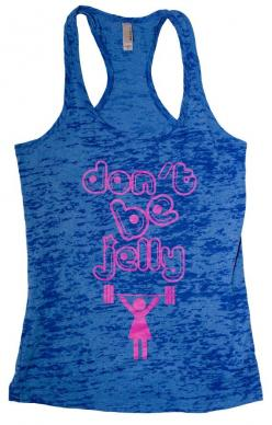 "CrossFit Ladies""Don't Be Jelly"" Racerback Tank - NEW on Etsy, $24.99: Crossfit Things, Avec Style, Clothing Diy, Gym Tanks, Christmas List, Etsy Goodies, Crossfit Ladiesdon T, Crossfit Ladies Don T"
