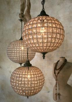 crystal globe pendant light.: Idea, Lighting, Light Fixtures, Globes, Chandeliers, Eloquence Globe, Bedroom