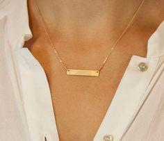Customized Name Bar Necklace // Personalized by LayeredAndLong, $35.00