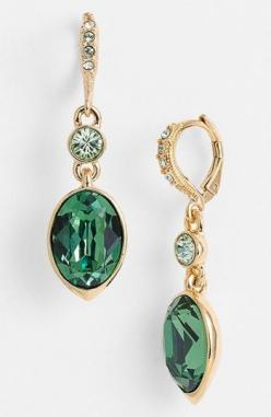 emerald #coloroftheyear: Emerald Earrings, Crystal Drop Earrings, Style, Crystals Formalize, Colors, Givenchy