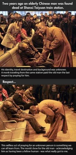 Faith In Humanity Restored � 25 Pics: Paying One S, Heart Warming, Train Stations, Faith In Humanity Restored, Dump A Day, Faith Restored, Amazing People, Monk S Prayer, Fellow Human
