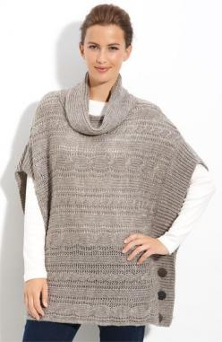 Fever Cable Knit Poncho | Nordstrom.  - I need a pattern for crochet in this style doesn't have to match stitch: Knitted Poncho, Sweater, Idea, Nordstrom, Pattern, Style, Cable Knit, Ponchos Tejido, Knit Poncho