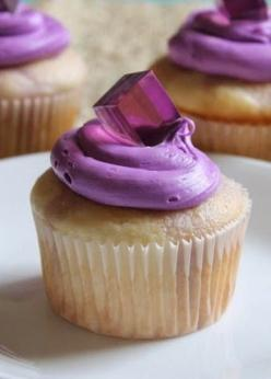 Grape Jello Shot Cupcakes Recipe ~ Boozy cupcakes, poked and loded with bozzy jello are topped with pretty purple frosting and bozzy jello cube on top.: Jello Shots, Grape Cupcake, Shot Cupcakes, Jello Cupcake, Cup Cake, Purple Cupcake, Boozy Cupcakes, Gr