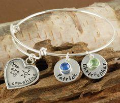 Hey, I found this really awesome Etsy listing at https://www.etsy.com/listing/179783972/personalized-bangle-bracelet-you-are-my