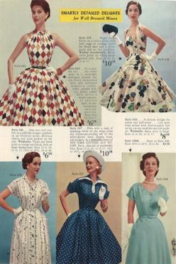 I actually got lucky enough to find the top upper right dress!: Lobell Catalog, Lana Lobell, 1950 Dresses, 1950S Dresses, 1950S Catalogues, 1950 S Dresses, 1950S Vintage, Summer Symphony, 1950S Fashion
