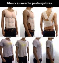 I am dying right now lol.: Pushup, Push Up Bra, Men S Answer, Men'S, Funny Stuff, Humor, Funnies