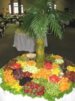 If you have a Destination Wedding and not everyone can attend, consider throwi9ng a Celebration Party when you get back and recreate a tropical decor, put up a big screen that automatically shows pictures from the wedding, have palm trees, tropi al drinks