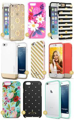 If you upgraded to an iPhone 6 or 6 plus check out these adorable cases. I'm loving the bright florals, dots, and stripes.
