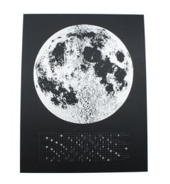 Love that this calender also duos as a moon calendar. Perfect for moon watching lovers.: 2014 Moon, Calendar 22X30, Moon Calendar, Moon Phases, Flock Product, 2015 Moon, Moon Watching, Beautiful Things, Bedroom