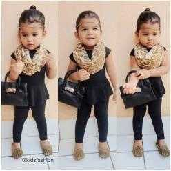 <3 Not sure if my daughter would have a purse that young, but I love the all black with leopard!!: Girls, Leopard Print, Style, Clothes, Kids Fashion, Baby Girl, Leopards