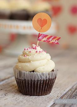 Monster Valentine's Party - FREE downloads! karaspartyideas.com #valentine's #free #ideas: Sweet, Printable Valentine, Food, Valentines Day, Heart Cupcakes, Valentine Cupcakes, Kiss Kiss, Valentine S, Cupcake Toppers