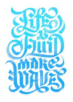 My Escape Kit: Graphic Design, Fluid, Lettering, Quote, Waves, Erik Marinovich, Type, Typography Inspiration