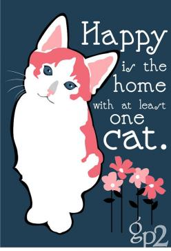 My Happy home consists of 1 Cat 3 Dogs 2 Birds and have 11 chickens (chickens r outside lol) welcome to my zoo LOL oh yes and a teenager to boot ROFL: Cat Art, Kitty Cats, Cats More, Art Prints, Crazy Cat, Calico Cats, Cat Stuff, Animal, Cat Lady