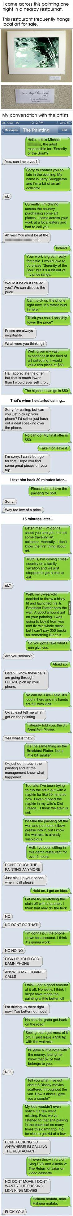 Next Time When You Post Your Phone Number In A Public Place, Think Again.: Funny Texts, Giggle, Text Prank, Funny Stuff, Public Place, So Funny, Painting