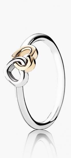 PANDORA 'Heart to Heart' ring http://rstyle.me/n/v5r2in2bn: Pandora Gold Ring, Pandora Heart Ring