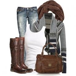Seems cozy....don't like the boots or bag but....I like the idea and the colors: Chic Outfit, Cozy Aztec, Fashion, Casual Outfit, Style, Dream Closet, Winter Outfit, Fall Outfit, Fall Winter